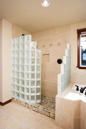 Bathroom Ideas Replace Tub With Shower : Glass block tub replacement shower in st louis