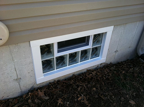 Glass block security windows in st louis basement for Glass block options
