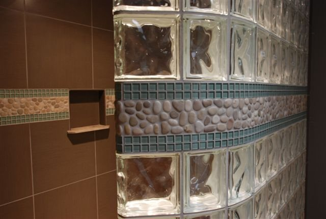 wedi shower systems - Bathroom Designs Using Glass Blocks