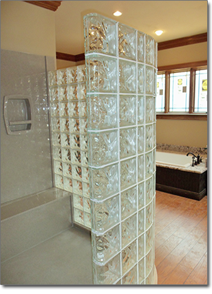 glass block showers