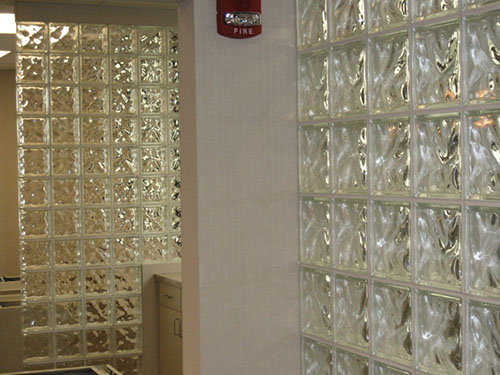glass block bars partitions