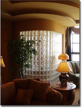 glass block partition pic