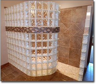 glass block shower tiel pic 1