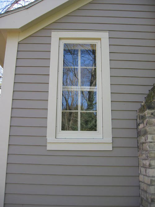 The Allied storm window complements the window design