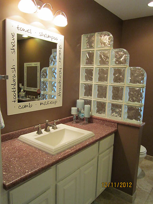 Glass Block Walls In The Bathroom Glass Block Partitions