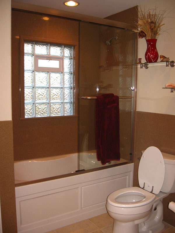 glass block windows for the bathroom and shower in st louis