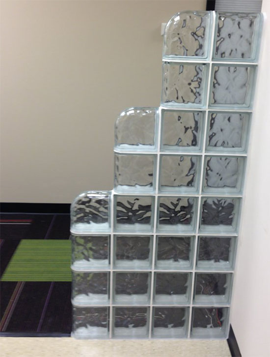 Glass Block Partition Or Wall Glass Block Wall For Office