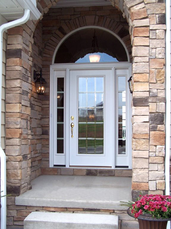 Glass entry doors st louis with sidelights entrance for Entry door glass options