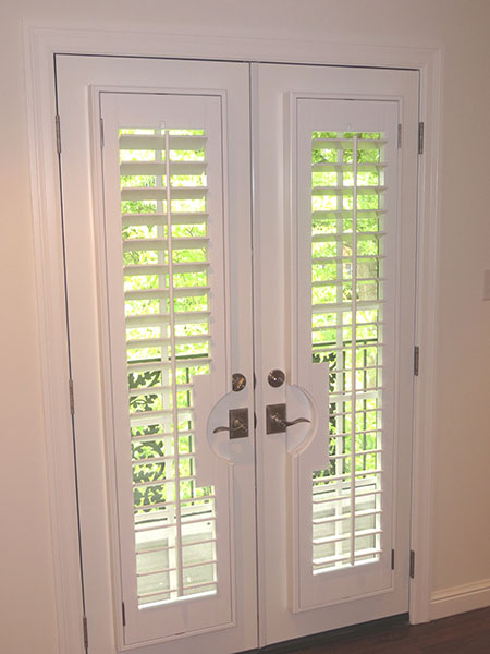 French doors with shutters french patio doors in st louis for Wood doors and shutters