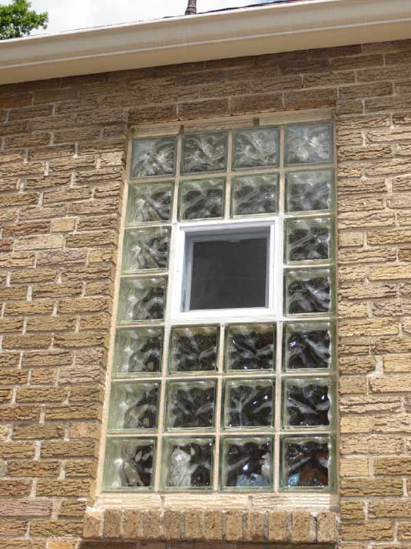Glass Block Windows In St Louis Glass Block Bathroom Windows