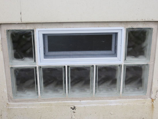 Glass Block Basement Window