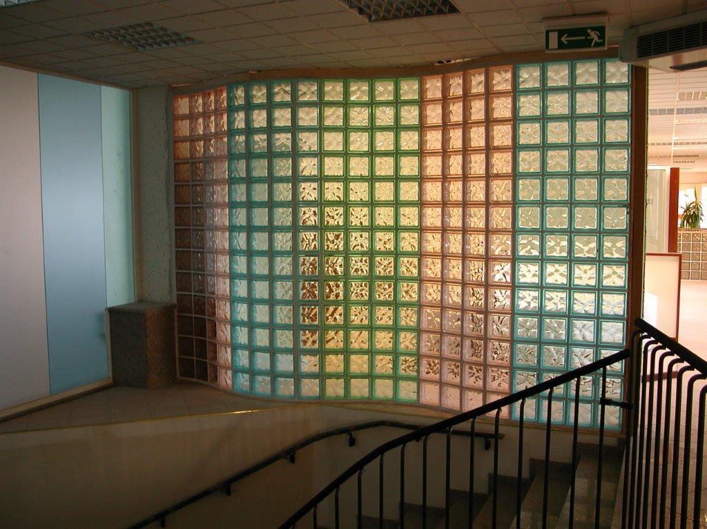 Wall Design Glass Block : Colored glass blocks block walls