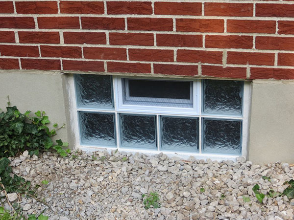 Glass block basement windows in st louis basement for Basement windows
