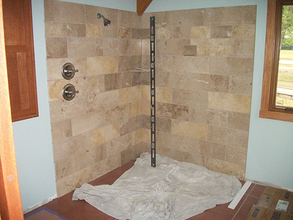 Doorless Shower Glass Block Walk In Showers St Louis