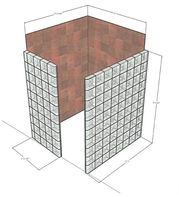 glass block shower design 22