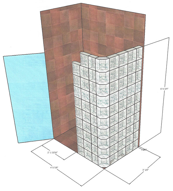 glass block shower design 3