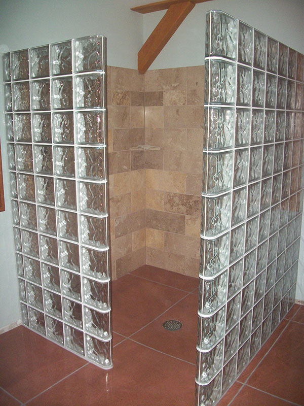 Glass Block Shower Designs