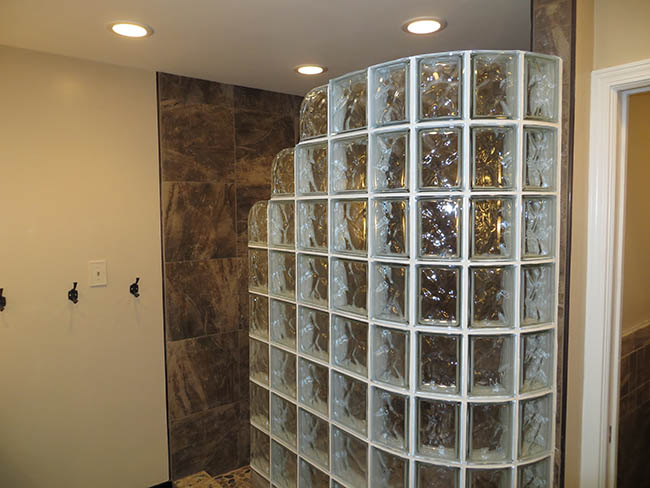 Project Modular Glass Block Showers 2