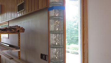 Project Fiber Optic Glass Block Wall 1